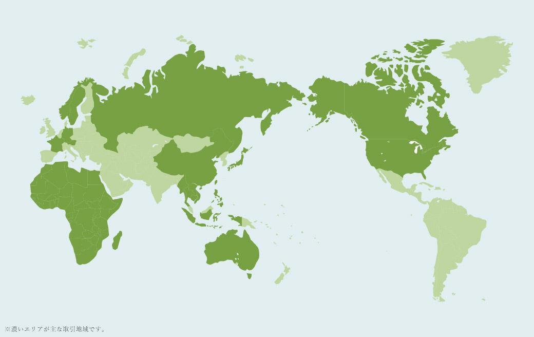 アメリカ、カナダ、中国、オーストラリア、ロシア、ヨーロッパ(ノルウェー、フランス、ドイツ、スウェーデン、オーストリア等)、インドネシア、アフリカ、東南アジア(ラオス、カンボジア、タイ、ベトナム、ミャンマー、フィリピン等)